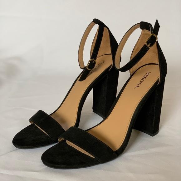 Merona Shoes | Black Strappy Heels